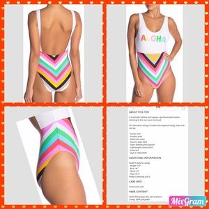 ⛱ VYB SCREENED ONE PIECE SWIMSUIT SIZE: Large ⛱